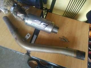 Muffler & link pipe Z250sl Ninja250sl
