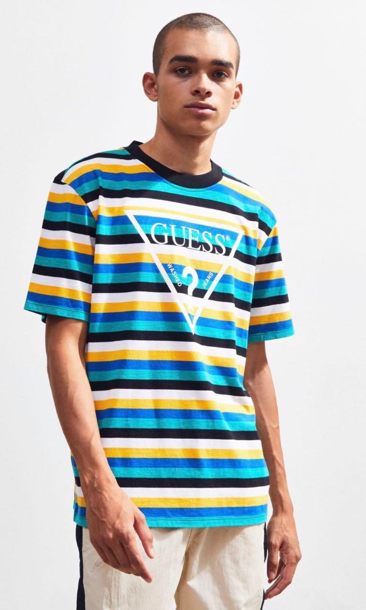 d256cefe4b 11.11 FLASH SALE] Guess vista striped tee, Men's Fashion, Clothes ...