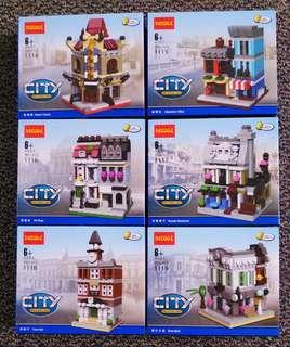 DECOOL City Mini Street View Set of 6 (1114 - 1119)