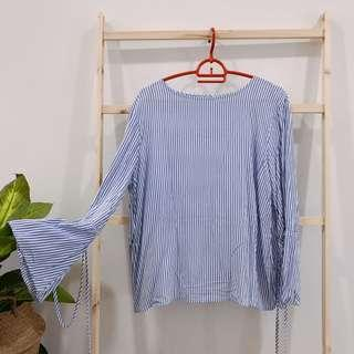 Blouse bell sleeves tops zara padini seee uniqlo