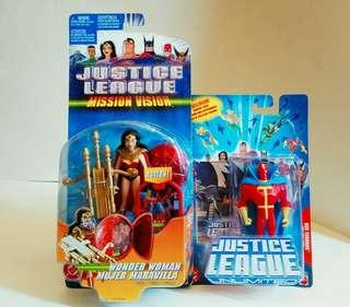 罕有全新 2003年 :Justice League Figure  (Wonder Woman ,Red Tornado ) #收藏品#
