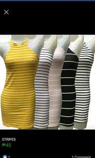 STRIPES BODYCON DRESS  FREE SIZE SMALL TO MEDIUM FRAME 65 ONLY 👉looking for more active and loyal resellers 👉all in one shop 👉direct and legit supplier since 2012..