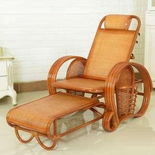 折疊藤椅($1498包送貨) 躺椅午休家用午睡床老人午睡休閑逍遙椅夏季成人躺椅