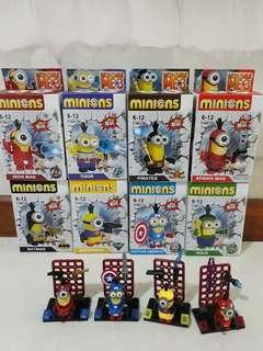 2@$2 Minions Superheroes Mini Figurines