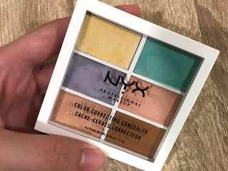 NYX 六色遮瑕盤(二手-八成新)