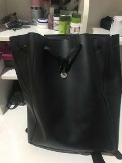 Zalora leather backpack