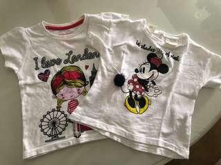 Zara Baby Girl Top + London print top