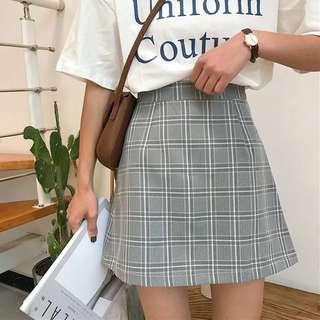 BNWT Grey Checkered Skirt