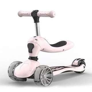 Children Scooter 2-6 Years Old Pink Color