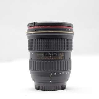 Used - Tokina 11-16MM F2.8 (IF) DX II for Nikon