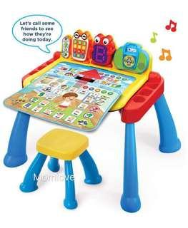 Ready Stock! *Christmas Gift for your little one* BNIB Sealed Vtech Touch & Learn Activity Desk Deluxe (Fisher Price Quality)