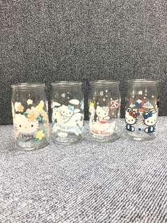 1999年 限量絕版 Hello Kitty 玻璃杯 x 4