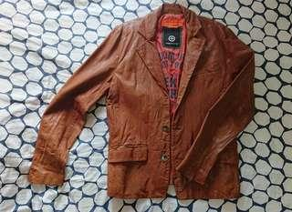 #jacketformen Bauhaus Tough jeansmith 男裝 西裝 皮褸M 碼 90% new