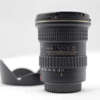 Used - Tokina 11-16MM F2.8 (IF) DX II for Canon