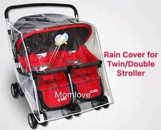 Ready Stock ! Brand New Rain Cover For Twin Double Stroller