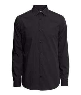 H&M Black Long Sleeve Shirt