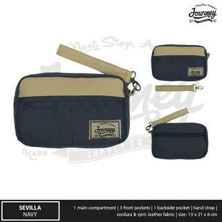 Tas Tangan / Hand Bag Pria Journey Sevilla Navy