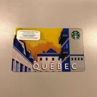 QUEBEC CANADA Starbucks Card