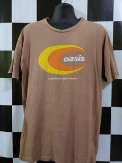 Vintage 90s rare Oasis D'you know what i mean? Shirt.