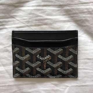 Goyard Black/Brown Card Wallet