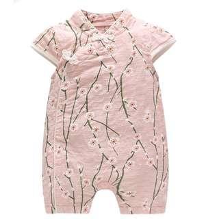 🚚 CSR022 New Baby Girl Pink Blossoms Cheongsam Qipao Romper