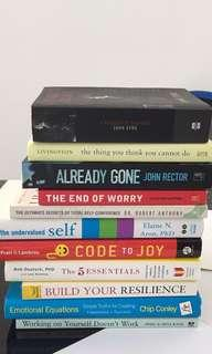 Non-fiction/Self-help and Fiction Books