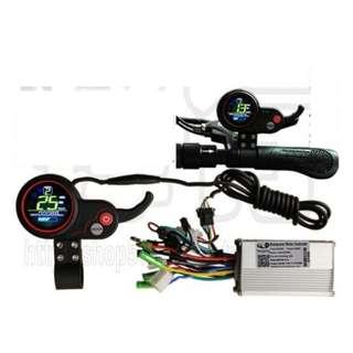 controller brushless double mode 60v 13A 150-350w , color LCD display, USB charging port for escooter electric scooter ebike electric bike……