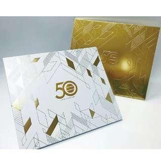 TVB 50週年首日封連郵票, 無線電視金禧紀念郵票套摺, 全球限量一千套!