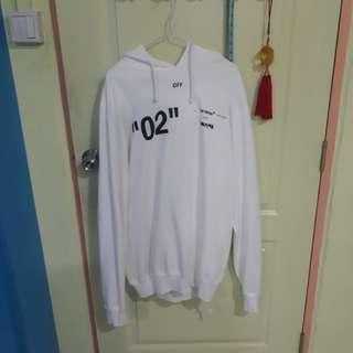 "OFF WHITE for all ""02"" hoodie white size L"