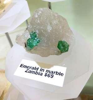 Emerald in Quartz (Zambia, 31g)