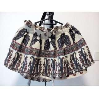 Korean style elastic waistband dress
