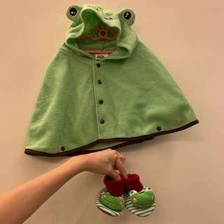 🚚 青蛙 斗篷 小童 鞋子
