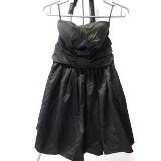 Black off shoulder elastic dress