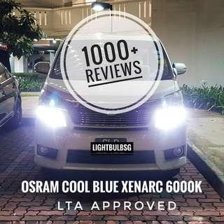 Toyota Vellfire and Alphard on D4S OSRAM cool blue xenarc 6000k HID bulb + installation. Available for other car makes too