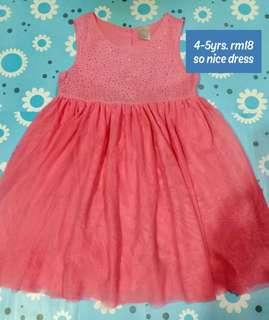Girl Dress 4-5yrs