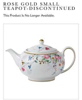 Wedgwood rose gold teapot