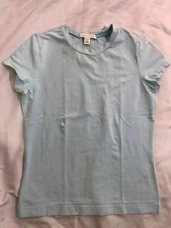 Authentic Banana Republic Plain Light Blue Top Tshirt