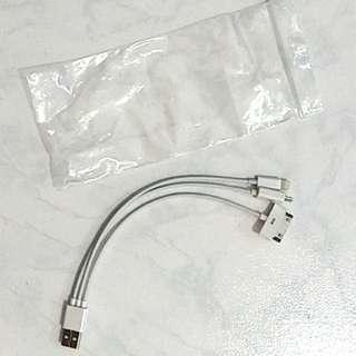 USB to MicroUSB/Lightning connector
