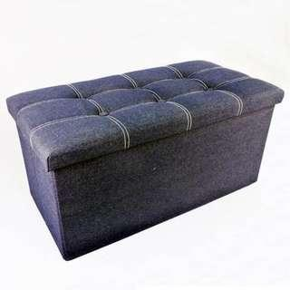 LONG FOLDABLE STORAGE BENCH (FABRIC)