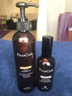 FicceCode shampoo and hair oils