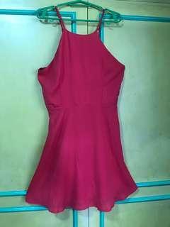 Forever 21 fuschia halter dress
