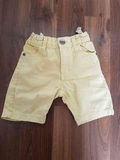 Yellow Adjustable Shorts for Toddlers