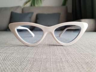NEW White Cateyed Shades/Sunnies/Sunglasses
