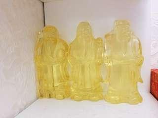 黄水晶福禄寿