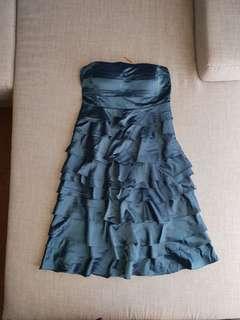Blue Silk Formal Dress