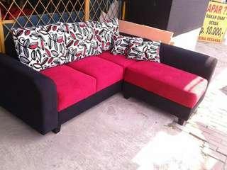 Di jual cepat sofa l putus minimalis
