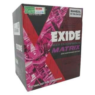 Exide Matrix NS40ZL (44B20L) For Perodua Bezza , Axia , Alza , Myvi , Kancil , Kenari , Kelisa , Viva , Nautica