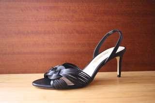 全新zara 編織感皮革涼鞋