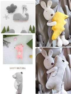 🚚 韓版兒童機車安全帶抱枕/護套/護肩套/安撫娃娃