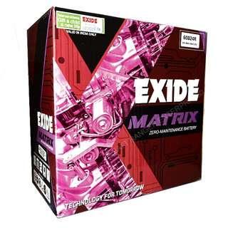 Exide Matrix NS60L/R (60B24L/R) For Toyota Vios / Honda City / Nissan Almera / Proton / KIA / Hyundai
